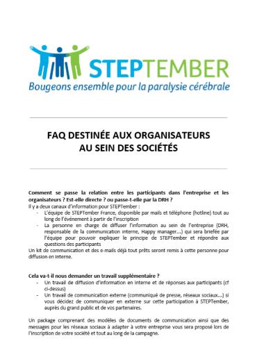 FAQs Organisation - STEPtember leader